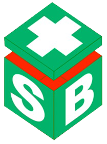 Eye Wash Symbol With Cross Square Sign