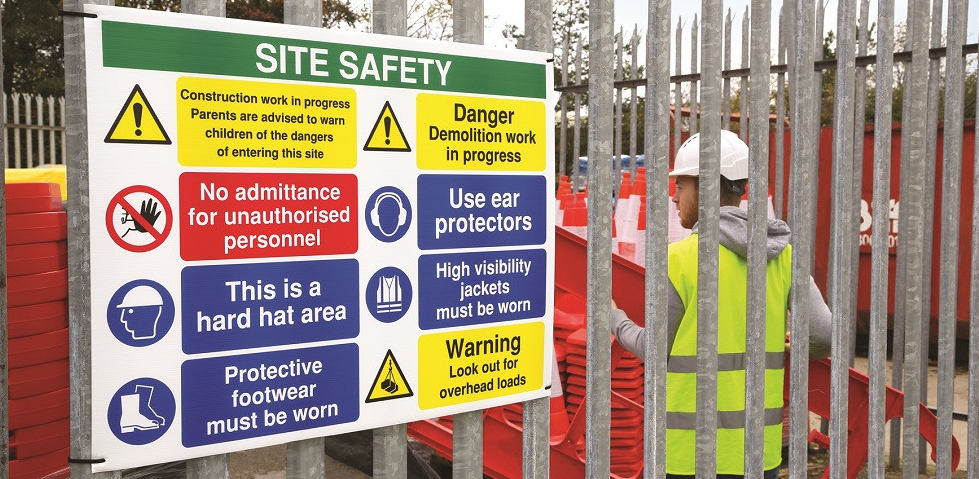 Construction and building Site Signs