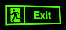 Consumer benefits of photo luminescent signs